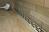 freestyle linear drain, shower drain, luxury shower drain